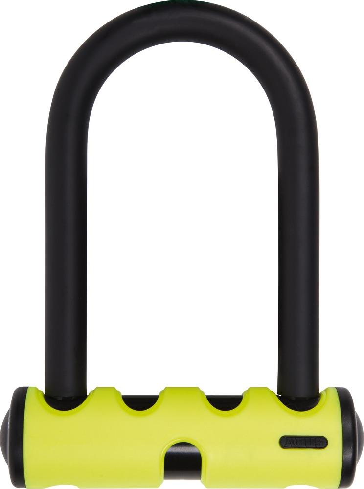 Un&nbsp;<strong><em>lacat de bicicleta&nbsp;</em></strong>poate fi de tip U, poate fi un<strong><em>&nbsp;lacat modular, lacat lant sau lacat cablu.</em></strong></p><p>Alegerea unui&nbsp;<strong><em>antifurt</em>&nbsp;<em>de bicicleta</em></strong>&nbsp;se poate face in functie de lungimea lacatului, de diametrul acestuia, de greutate, precum si in functie de culoare.Un&nbsp;<em><strong>antifurt</strong>&nbsp;</em><strong><em>de bicicleta</em>&nbsp;&nbsp;</strong>poate avea inchiderea cu cheie sau cu cifru. Specialistii din domeniu afirma ca pretul&nbsp;<em><strong>sistemului de protectie al bicicletei</strong></em>&nbsp;trebuie sa reprezinte 25% din valoarea acesteia.&nbsp;Siguranta este foarte importanta, dar cu toate acestea sa nu uitam de existenta hotilor.</p><p><strong><em>Antifurt bicicleta&nbsp;tip U</em></strong>, calitate germana Abus de culoare negru.</p><p><strong><em>Antifurt bicicleta tip U</em></strong><em>&nbsp;</em>care<em>&nbsp;</em>este format din bara &nbsp;de otel de 14mm, acoperite cu un strat protector pentru a evita deteriorarea bicicletei.</p><p>Acest lacat are o deschidere de 17 cm&nbsp;si nivelul de siguranta 11.