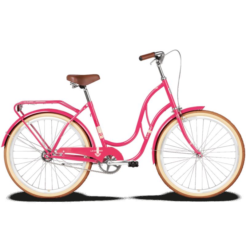 """<strong>Bicicleta de oras,</strong> cu un design deosebit si cadru usor destinata femeilor indraznete.</p><p><strong>Citybike de femei,</strong> echipat cu componente de calitate, cu 2 ani garantie in magazinele Doua Roti.</p><p><strong>Producator:</strong> Le Grand</p><p><strong>Cadru:</strong> Otel</p><p><strong>Marime Cadru</strong>: 18""""</p><p><strong>Furca</strong>: otel 26""""</p><p><strong>Viteze:</strong> 1</p><p><strong>Frana fata: </strong>Calliper</p><p><strong>Frana spate: </strong>Coaster brake ( frana in butuc)</p><p><strong>Butuc fata:</strong> otel</p><p><strong>Butuc spate:</strong> otel KT-305</p><p><strong>Anvelope</strong>: 26*1.75 Rubena</p><p><strong>Mansoane</strong>: VLG 105</p><p><strong>Sa:</strong> FM 2734A</p><p><strong>Accesorii</strong>: cric, portbagaj, sonerie</p><p><strong>Greutate: </strong>15.6 Kg"""