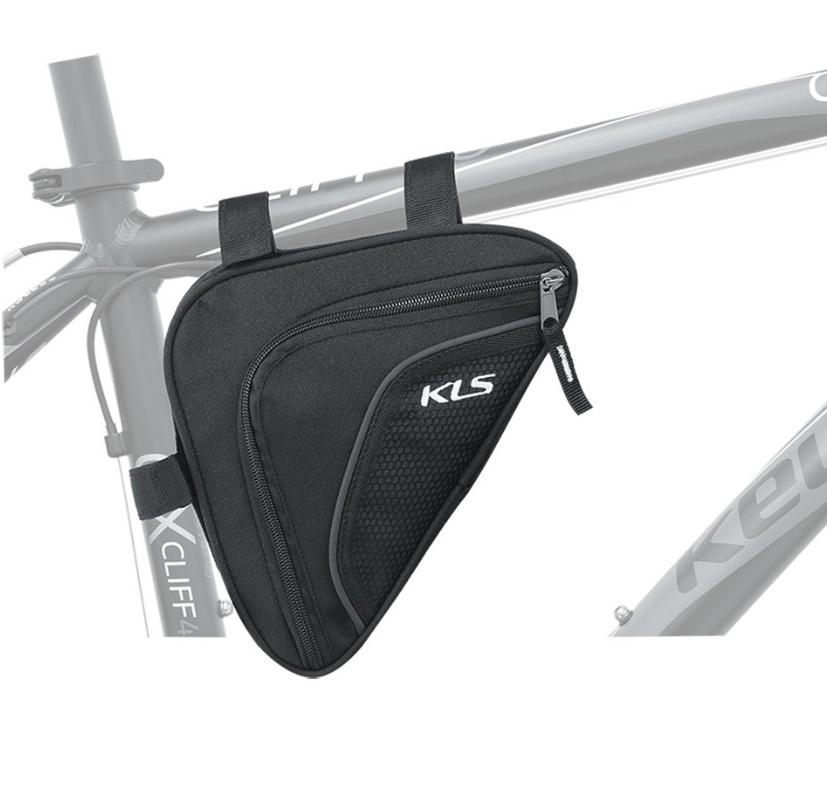 Borseta cadru pentru bicicleta de la Kellys, model Kls Wedge, confectionat din material rezistent la apa,&nbsp;600D poliester/ Poly honeycomb /Nylon 210D.</p><p>&nbsp;</p><p>Borseta este prevazuta pe exterior cu benzi reflectorizante si buzunar suplimentar tip plasa.</p><p>Volum: 0.9 litri