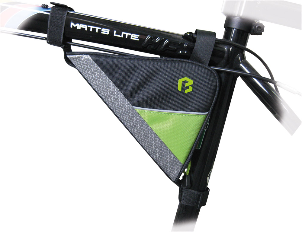 "Borseta cadru pentru bicicleta, care se fixeaza cu arici.</p><p><span lang=""ro-RO"">Part</span><span lang=""ro-RO"">ener nelipsit&nbsp;</span>la ture scurte.</p><p>Material: 600D polyester, 420D nylon.</p><p lang=""ro-RO"">Banda reflectorizanta mareste nivelul de sigaranta&nbsp;a ciclistului."