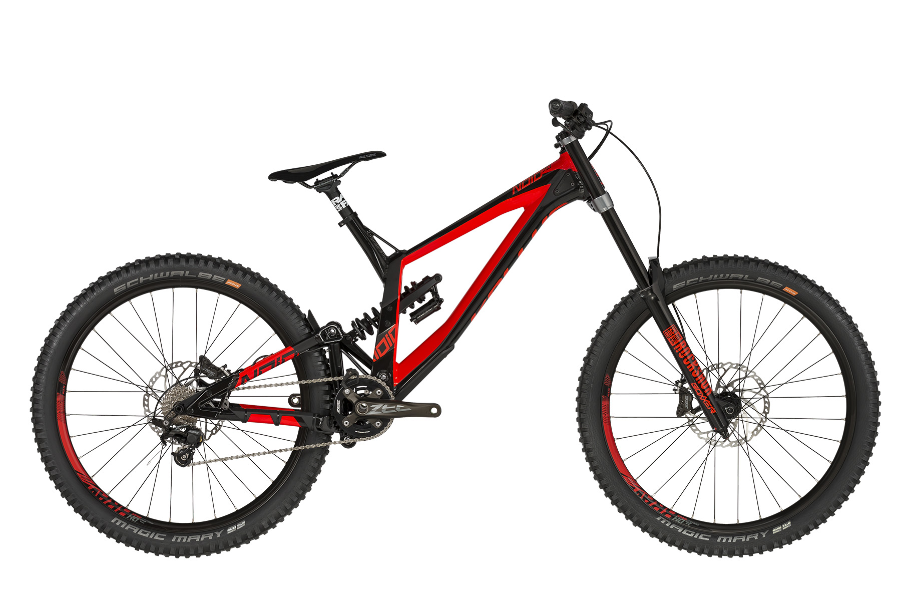 <strong>Bicicleta full suspension </strong>cu telescop pe fataROCK SHOX Boxxer RC DebonAir (27.5) Boost, 200mm si telescop pe spateROCK SHOX Super Deluxe Coil R / Rapid Recovery (250x75mm).</p><p><strong>Bicicleta downhill cu echipare Shimano Zee</strong> de 10 viteze si frane hidraulice Shimano Zee.</p><p><strong>frame</strong>KELLYS Gravity DH 27.5 / Think Link suspension system, 205mm rear travel, internal routing, ISCG 05, 12x150mm thru axle<br /><strong>frame size</strong>M / L / XL<br /><strong>fork</strong>ROCK SHOX Boxxer RC DebonAir (27.5) Boost, 200mm, Charger RC Damper / Maxle Stealth 20mm thru axle<br /><strong>rear shock</strong>ROCK SHOX Super Deluxe Coil R / Rapid Recovery (250x75mm)<br /><strong>head parts</strong>FSA 1.5 integrated<br /><strong>b.b.parts</strong>SHIMANO Press-Fit BB71-41A<br /><strong>crankset</strong>SHIMANO Zee M645 (34) - length 165mm<br /><strong>shifters</strong>SHIMANO Zee SL-M640 Rapidfire Plus (rear)<br /><strong>f/derailleur</strong>chain guide MOZARTT HXR, ISCG 05<br /><strong>r/derailleur</strong>SHIMANO Zee M640 (direct mount)<br /><strong>speed</strong>10<br /><strong>cassette sprocket</strong>SHIMANO CS-HG500-10 (11-25)<br /><strong>chain</strong>KMC X10 EL (106 links)<br /><strong>brakes</strong>SHIMANO Zee M640 Hydraulic Disc<br /><strong>brake rotors</strong>203mm front / 203mm rear<br /><strong>brake levers</strong>SHIMANO Zee BL-M640<br /><strong>hubs</strong>NOVATEC DH Disc (20x110mm / 12x150mm / 32 holes)<br /><strong>thru axle</strong>ROCK SHOX Maxle Stealth 20x110mm front / Mr.CONTROL 12x150mm rear<br /><strong>rims</strong>KLS Brave Disc 584x23 (32 holes)<br /><strong>spokes</strong>stainless steel black<br /><strong>tires</strong>SCHWALBE Magic Mary 60-584 (27.5x2.35) SnakeSkin, Tubeless Easy, ADDIX Soft, folding<br /><strong>stem</strong>RACE FACE Chester DM 35 - direct mount / bar bore 35mm<br /><strong>handlebar</strong>RACE FACE Aeffect R 35 RiseBar - diam 35mm / rise 20mm / width 780mm<br /><strong>grip