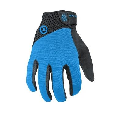 <strong>Manusi de bicicleta</strong> usoare si durabile, cu umplutura cu gel in palma, degete prevazute cu silicon pentru o mai buna aderenta.</p><p><strong>Material:</strong>&nbsp;68% Nylon, 24% Polyurethane, 5% Elastane, 3% Polyester</p><p><strong>Culoare:</strong> albastru</p><p><strong>Marime:</strong> XL