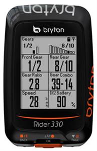 COMPUTER BRYTON RIDER 330T GPS SET + HRM +CAD-                    KILBRYRID330TGPSSET